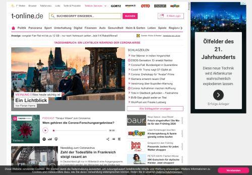 t-online.de Desktop Screenshot