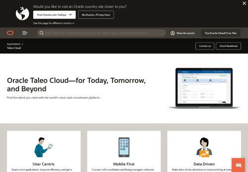taleo.net Desktop Screenshot