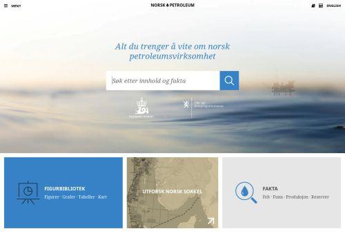 norskpetroleum.no Desktop Screenshot