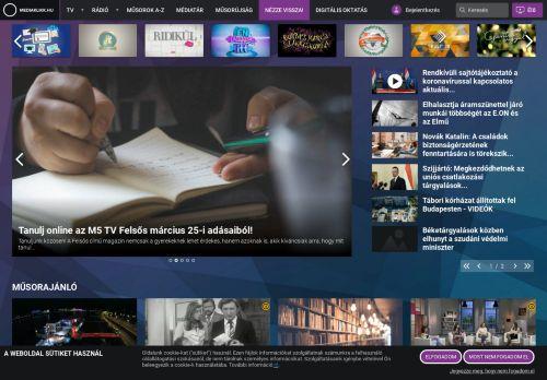mediaklikk.hu Desktop Screenshot