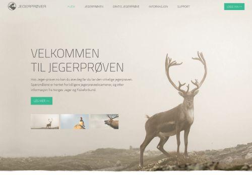 jeger-prover.no Desktop Screenshot