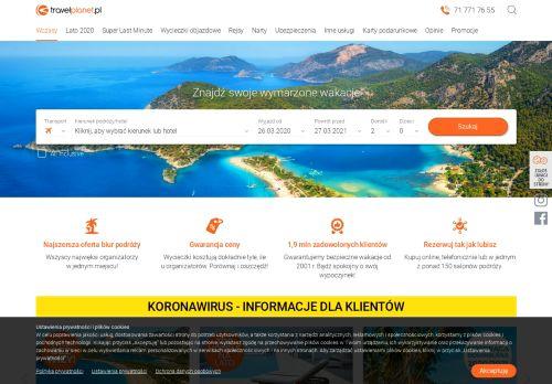 travelplanet.pl Desktop Screenshot