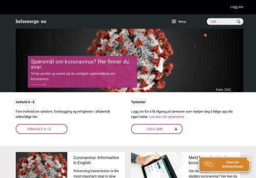 helsenorge.no Desktop Screenshot