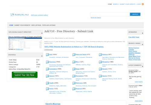 addurl.nu Desktop Screenshot