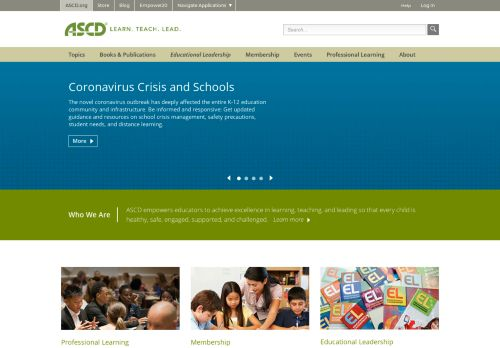 ascd.org Desktop Screenshot