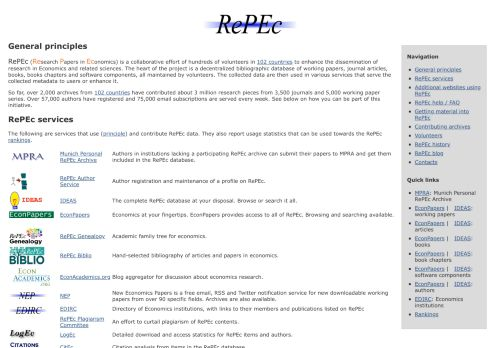 repec.org Desktop Screenshot