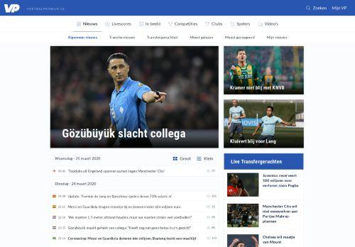 voetbalprimeur.nl Desktop Screenshot
