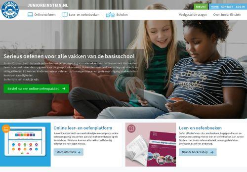 junioreinstein.nl Desktop Screenshot