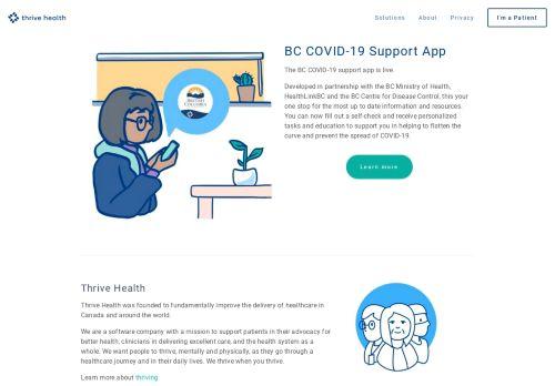 thrive.health Desktop Screenshot