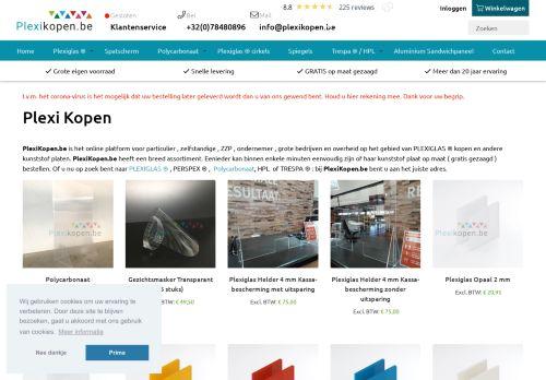 plexikopen.be Desktop Screenshot