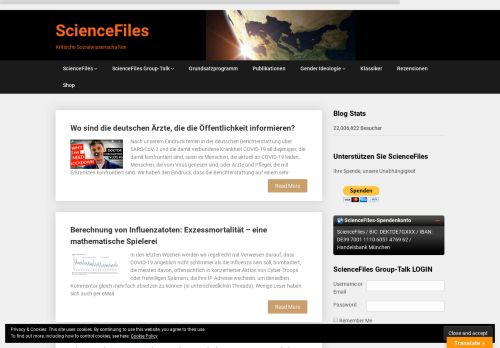 sciencefiles.org Desktop Screenshot