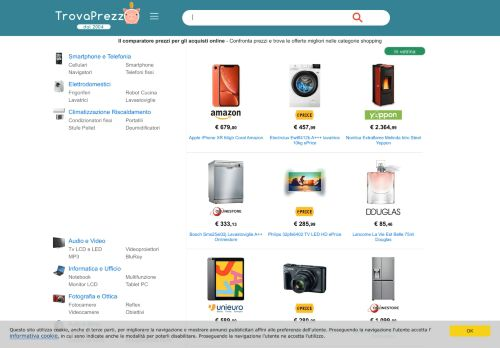 trovaprezzo.it Desktop Screenshot