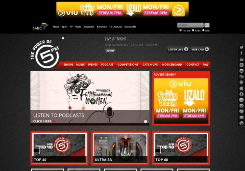 5fm.co.za Desktop Screenshot