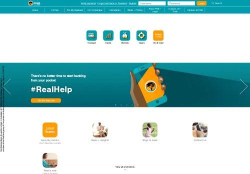 fnb.co.ls Desktop Screenshot