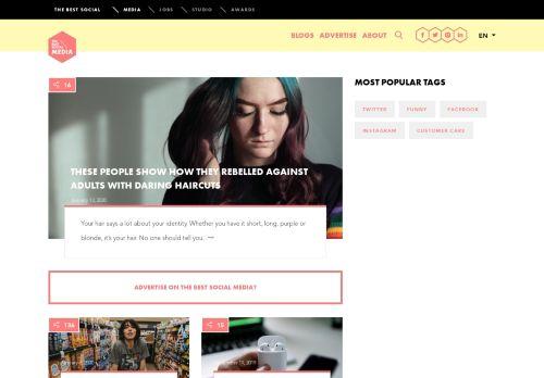 thebestsocial.media Desktop Screenshot