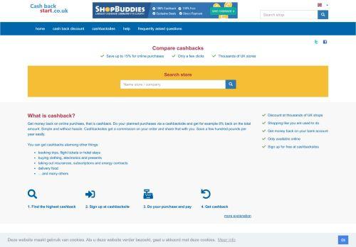 cashbackstart.co.uk Desktop Screenshot