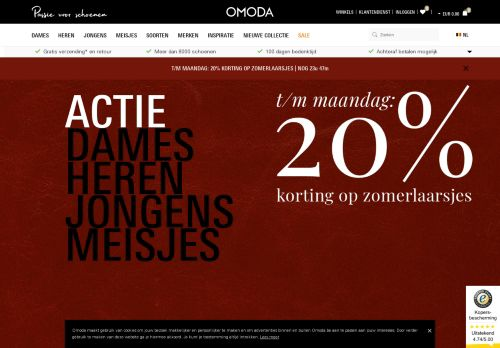 omoda.be Desktop Screenshot
